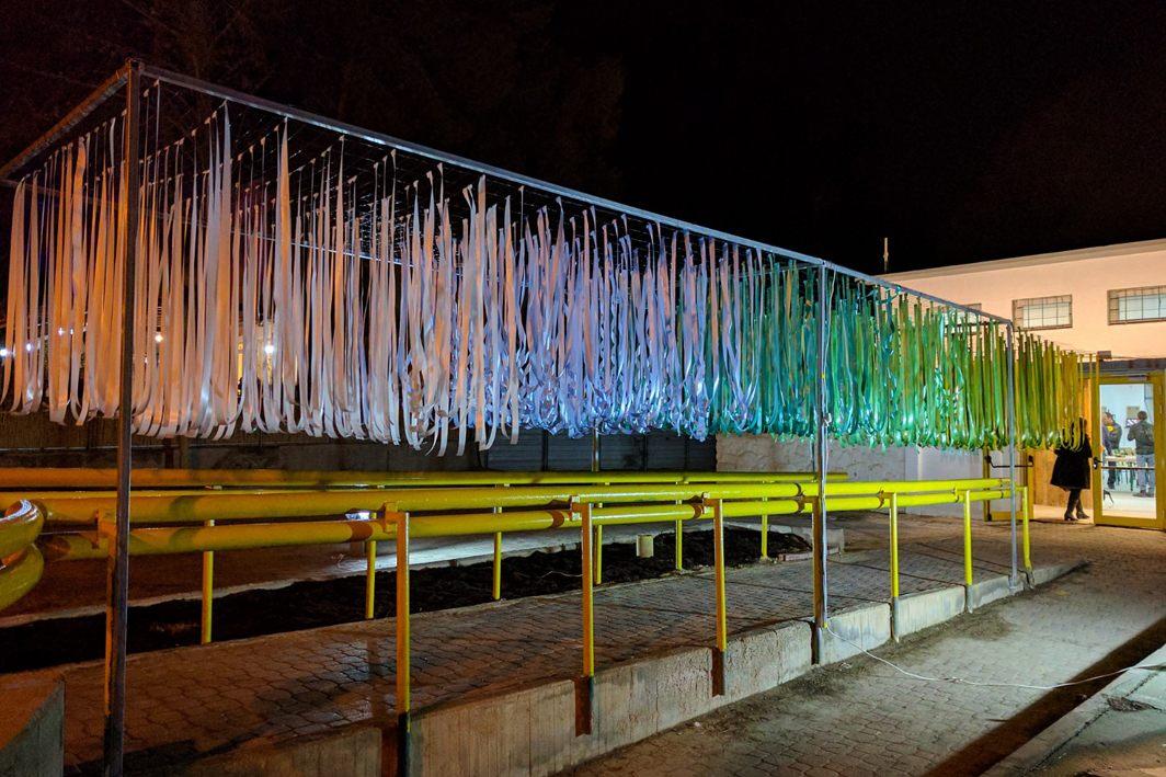 מיצב חוץ – בשיתוף עם המעצב אלעד אור ומעבדת פיס טרמינל עיצוב ירוחם.
